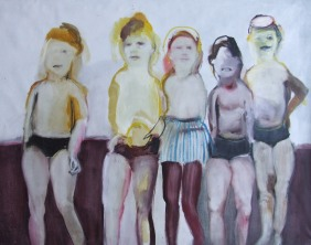 At the beach I, oil on cavnas, 115 cm x 145 cm x 2.5 cm