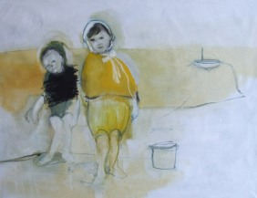At the beach III, oil on cavnas, 115 cm x 145 cm x 2.5 cm